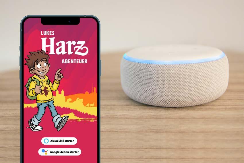 Tourismus Referenzen mit Amazon Alexa, Google Assistant und Podcast für die Harz Tourismus