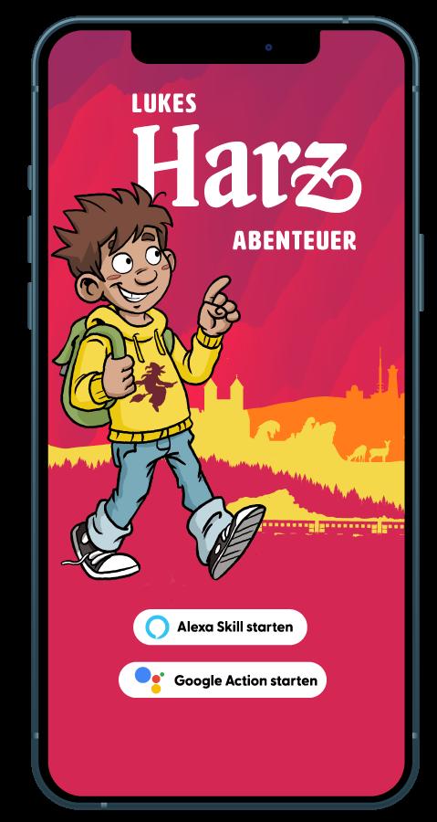 Lukes Harz Abenteuer als interaktiver Chatbot und Hörspiel