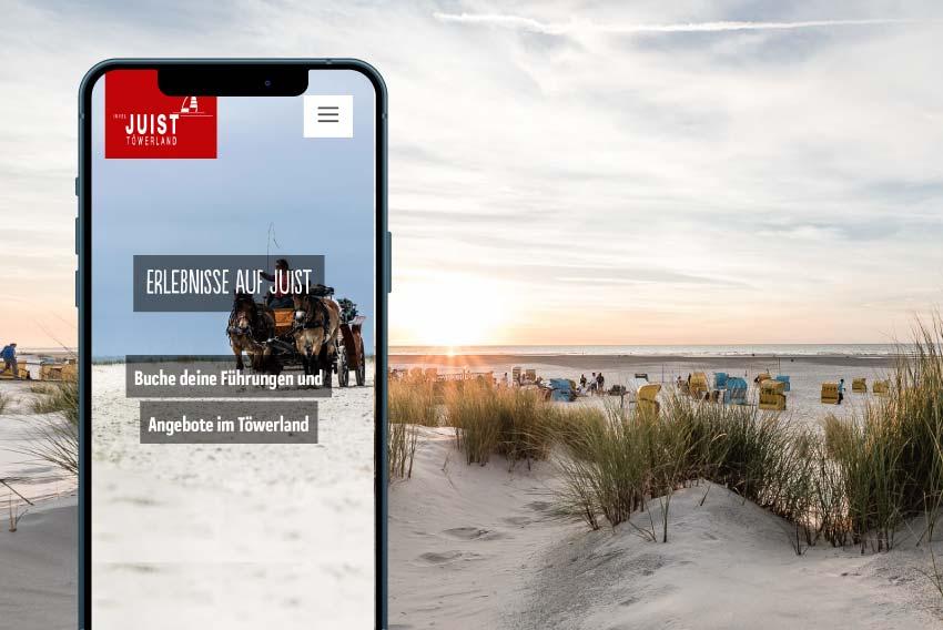 Tourismus Referenzen mit Erlebnisvermarktung, Social Media und Blog für die Juist Marketing